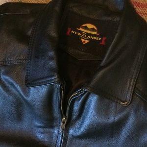 New Z Lander Heavy Leather Coat. Large.